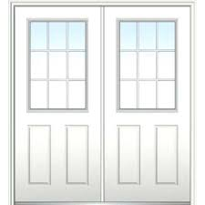 white double front door. Double Entry Door With Glass In X White Internal Grilles Right Hand 1 Wood Front