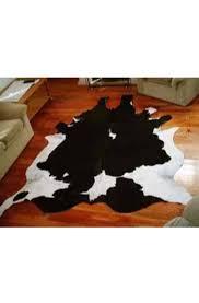 black white cowhide rug
