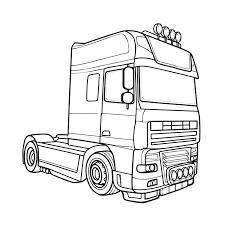 Vrachtwagen Kleurplaat Kleurplaat Vrachtwagen Scania V8 Modern