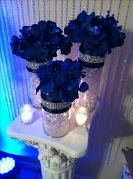 Discover thousands of images about Royal blue & silver centerpieces