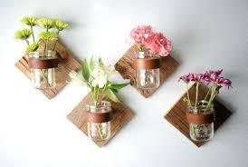 wall vases mason jars on wall flowers wall vases diy wall vases