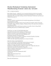 assembly technician resume resume samples assembly technician resume sample resume maintenance mechanic resume