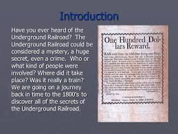 the underground railroad ppt  introduction