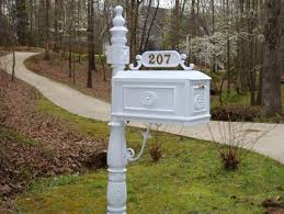 Better Box Mailbox White Decorative Cast Aluminum Residential