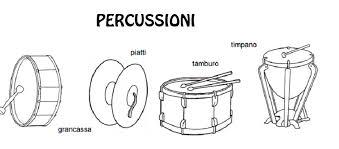 Scheda Didattica Ascolta Impara E Colora Ottoni E Percussioni