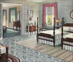 1920s Colonial Furniture | 1923 Armstrong Rose U0026 Sage Green Bedroom   20s  Vintage Style