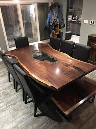 Live Edge Dining Room Tables Toronto Live Edge Dining Table