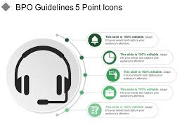 Bpo Guidelines 5 Point Icons Powerpoint Presentation