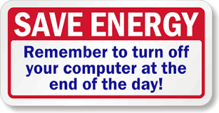 Turn Off Computer Turn Off Your Computer Label Save Energy Label Sku Lb 1771