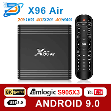 Android 9.0 TV BOX X96 Air Amlogic S905X3 mini 4GB 64GB 32GB wifi 4K 8K  24fps Netflix X96Air 2GB 16GB Set Top Box PK A95|Set-top Boxes