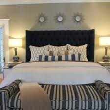 blue upholstered headboard. Delighful Blue Master Bedroom Suite With Navy Upholstered Headboard To Blue T