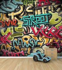 graffiti wall wallpaper mural style 2 childrens bedroom feature wall wm345 on graffiti wall art bedroom with graffiti wall wallpaper mural style 2 childrens bedroom feature wall