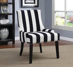 Striped Living Room Chairs Coaster 902188 Black White Stripes Vevet Fabric Chair Haammss
