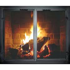 wood fireplace doors open or closed burning stove door glass replacement