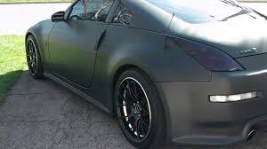 nissan 350z matte black. Perfect Matte 1 SICK FLAT  MATTE BLACK NISSAN 350z WITH HIDE AWAY LICENSE PLATE   YouTube With Nissan Matte Black T