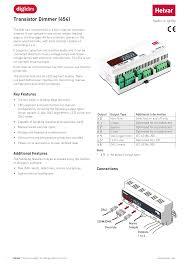 Helvar Designer Transistor Dimmer 454 Manualzz Com