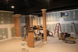 BraySam Lane Basement Remodel With Painted Exposed Ceiling - Painted basement ceiling ideas