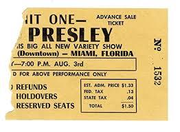 1956 Elvis Presley Concert Ticket Stub 8 3 56 Miami Florida At