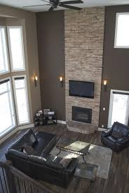 Grey Living Room Set Ideas Blue And Gray Living Room With A Two Two Story Fireplace