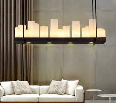 aiwen ceiling lighting rectangular wrought iron chandelier candle