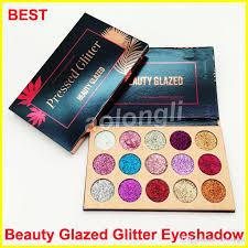 new makeup beauty glazed glitter eyeshadow palette ultra pigmented glitter shimmer eye shadow palette beauty dhl free makeup glitter eyeshadow from aolongli