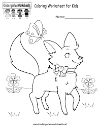 coloring worksheet for kids printable free kindergarten coloring worksheets learning with a fun activity on kindergarten printable worksheets