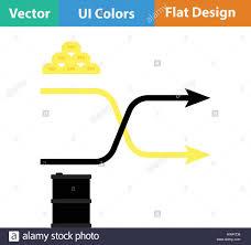 Stock Comparison Chart Gold And Oil Comparison Chart Icon Flat Design Vector