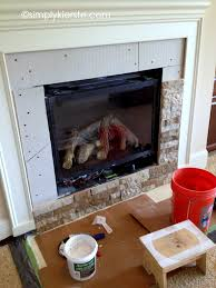 Tile Fireplace Makeover Fireplace Makeover Using Airstone Airstone House And Living Rooms
