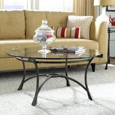 glass coffee table top round black set