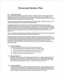 Restaurant Business Plan Sample 13 Business Plans Free Sle Exle Format Free Restaurant
