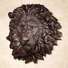lion wall art inspirational power and presence lion head wall sculpture
