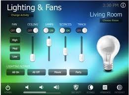 RTI Panel IPad Lighting Control