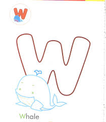 Small Picture alphabet letter w whale coloring page for preschool Preschool Crafts