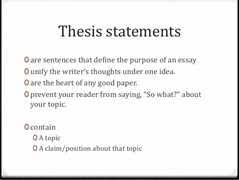 How to Write A Killer Thesis Statement Video   Shmoop adisaratours com