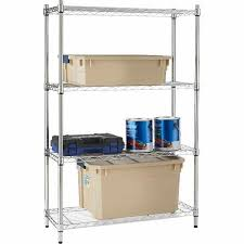 style selections 4 tier chrome steel shelving unit lowe