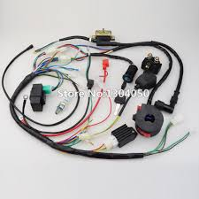 popular atv wiring harness buy cheap atv wiring harness lots from full wiring harness cdi ignition coil kill key switch ngk spark plug 50 70 90 110
