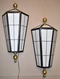 pair oversized art deco exterior interior wall sconce