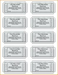 Numbered Raffle Ticket Template Free Template Raffle Ticket Template With Numbers Sample Free Printing 8