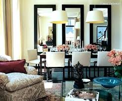 mirror for dining room wall. Dining Room Wall Decor Mirror Design For Inexpensive Trick Three Vertical Mirrors . I