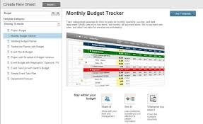 Monthly Expenses Spreadsheet Free Monthly Budget Templates Smartsheet