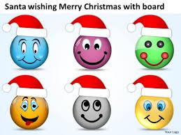 Santa Wishing Merry Christmas With Board Fishbone Chart