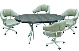 kitchen chair with rollers dining room chairs casters regarding designs 16