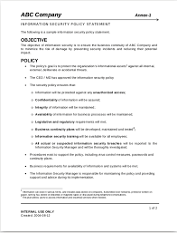 business policy example 12 security policy examples samples examples