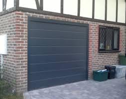 hormann garage doorHormann Sectional Door MRibbed Anthracite Silkgrain  Copyjpg
