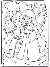 Engel En Jongetje Kleurplaten Kerst