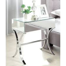 small mirrored side table mirrored side tables round mirrored side table modern drawer table small