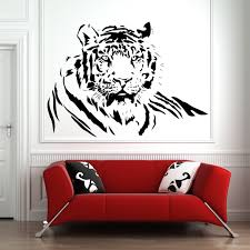 tiger wall art wall art on wall decals