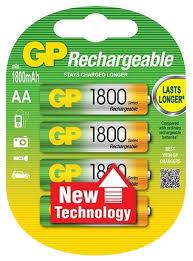 <b>Аккумулятор Ni-Mh 1800 мА·ч</b> GP Rechargeable 1800 Series AA ...