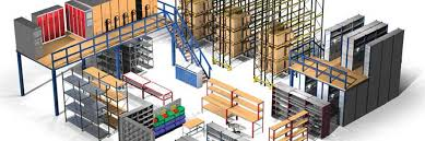 warehouse storage solutions with mezzanine floors pallet racking and shelving