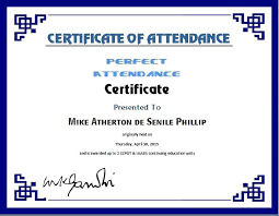 Free Printable Perfect Attendance Certificate Template Best Perfect Attendance Certificate Template Employee Free Site Award